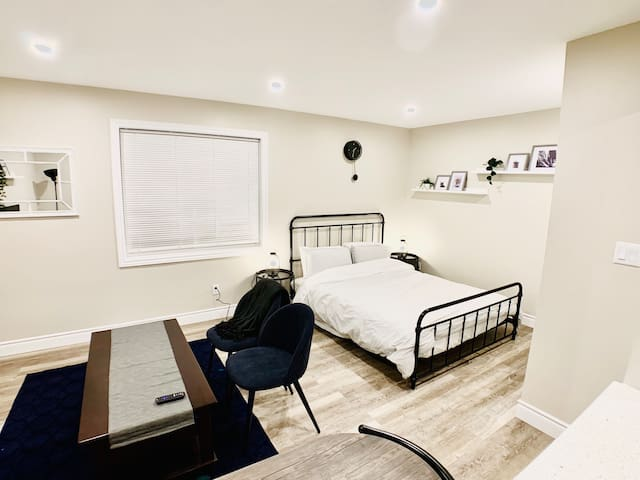 Spacious open concept room gives you a comfortable stay