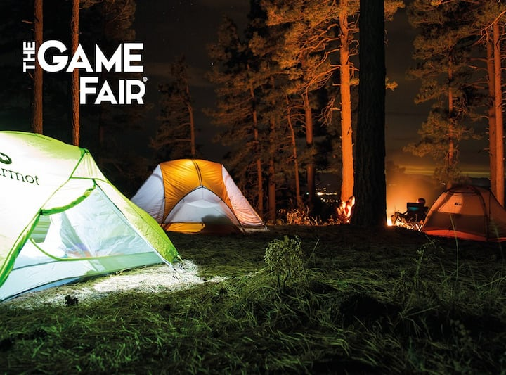 Campsite pitch at the The Game Fair