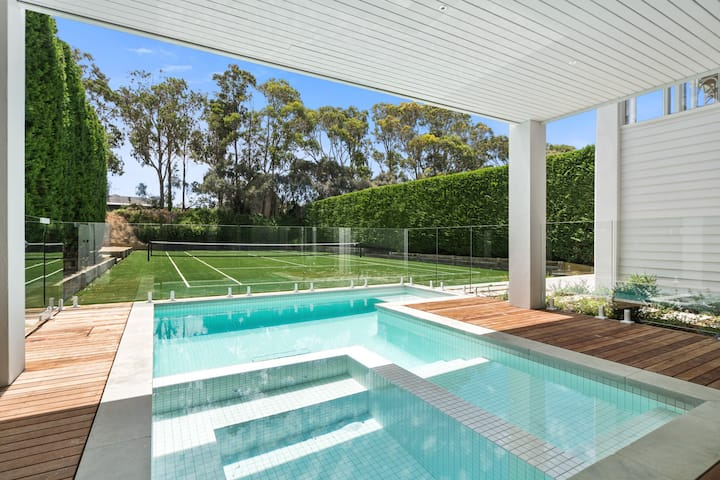 Portsea Pool, Spa Tennis, 5 Bdrm