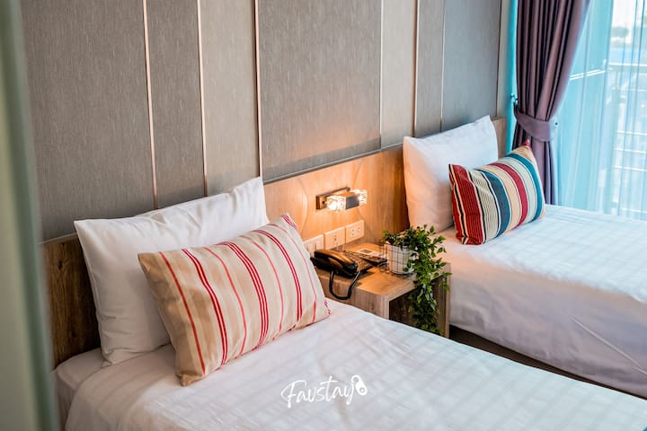 Boutique Studio with 2 Twin Beds on Jomtien Beach