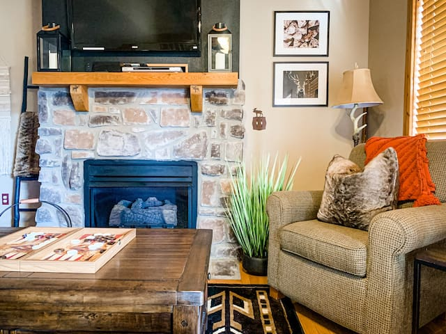 All the details make this rustic, modern space lovely to call home in Branson!