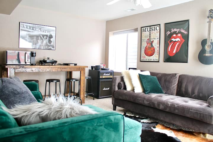 Modern, Stylish, & Music Inspired Guest Suite!
