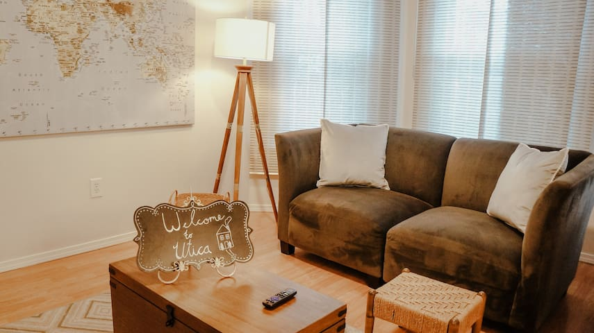 Cozy Functional Family Room