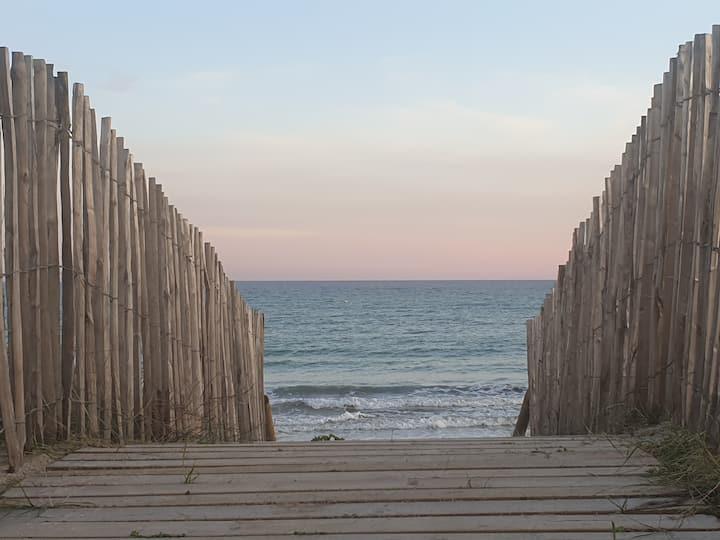 Villa des océans de plein pied  avec spa extérieur