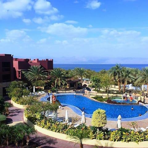 Gorgeous Beach 2BR Apt.   Tala Bay Resort,  Aqaba