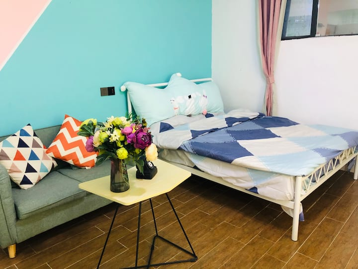 【租窝儿】小清新大空间 可做饭 可聚会 时尚大床房
