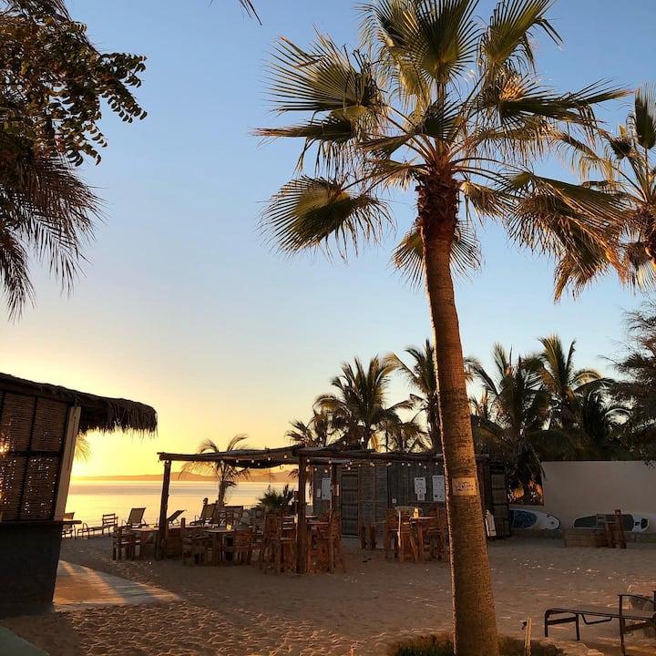 Estancia privada a pie de playa.