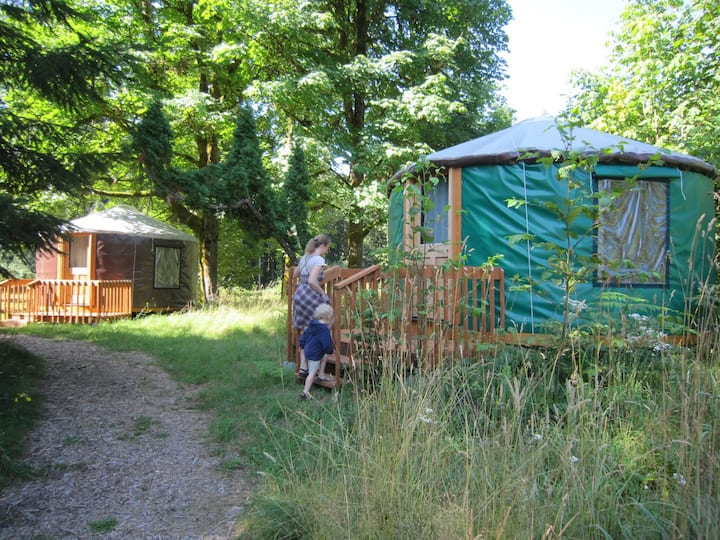 Yurt (Double Bed; Heated) @ Zigzag Mountain Farm