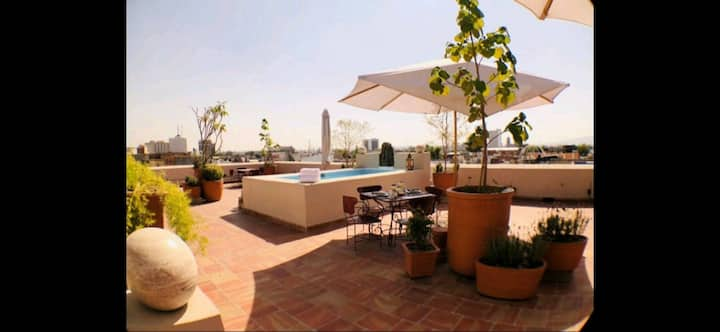 Loft Aurora, Casa 3 Pilares. Relaxing pool terrace