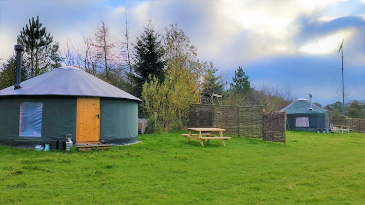 2 cosy Yurts, Stunning views - Totnes/ Dartmouth