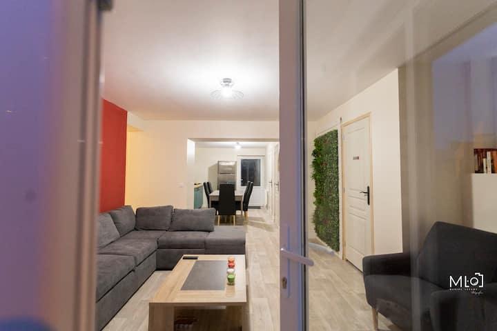 Logement 75 m² avec jardin privé