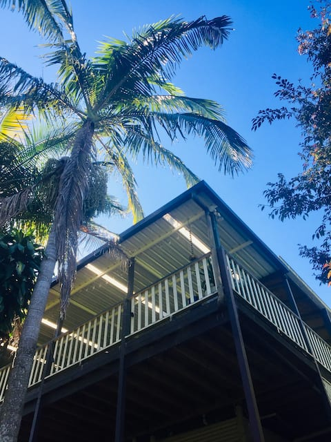 Room only: Tropical oasis-5min to beach and cafes