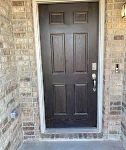 "The door is 36 inches wide. All bedrooms and bathrooms have 36"" doors."