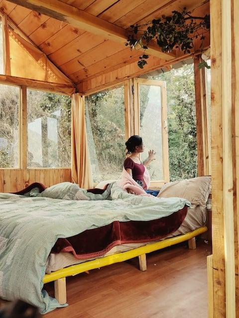 Sunny Treehouse|BF|Valley View|350m trek