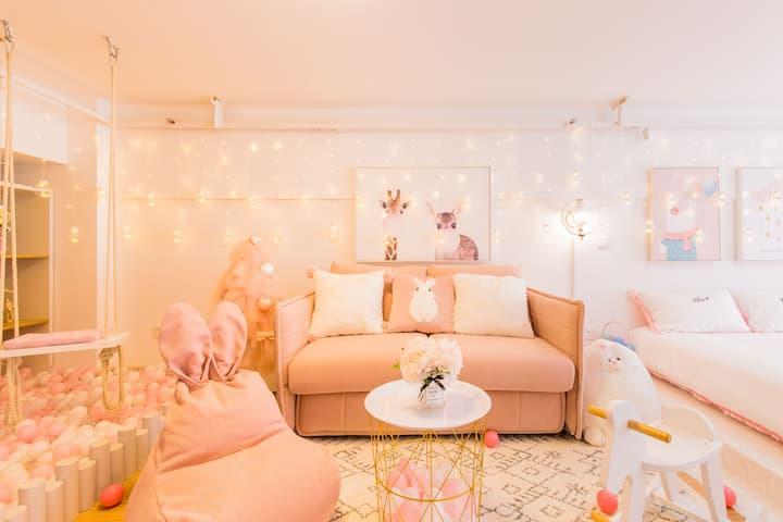 思荼•粉色兔子王国|4站达迪士尼|新国展|野生动物园|100寸家庭影院|闺蜜亲子聚会