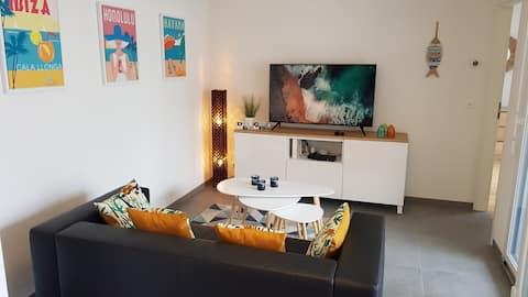 Beach Appartement avec terrasse et parking privé