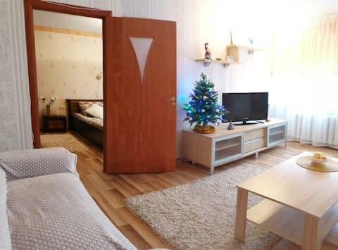 중심가에 위치한 아늑하고 가벼운 아파트