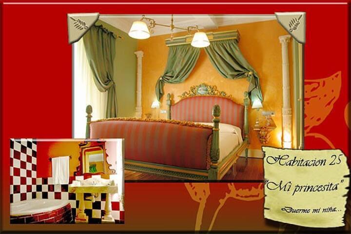 La princesita, cama king size+bañera riñón, Soria