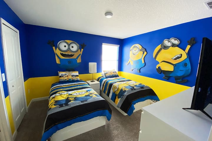 Minions Room!  two twin beds
