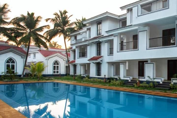 2 BHK facing swimming pool in Siolim, North Goa