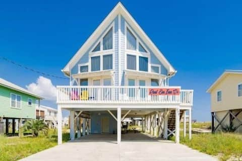 Home w/view, SECLUDED beach, fisherman's paradise!
