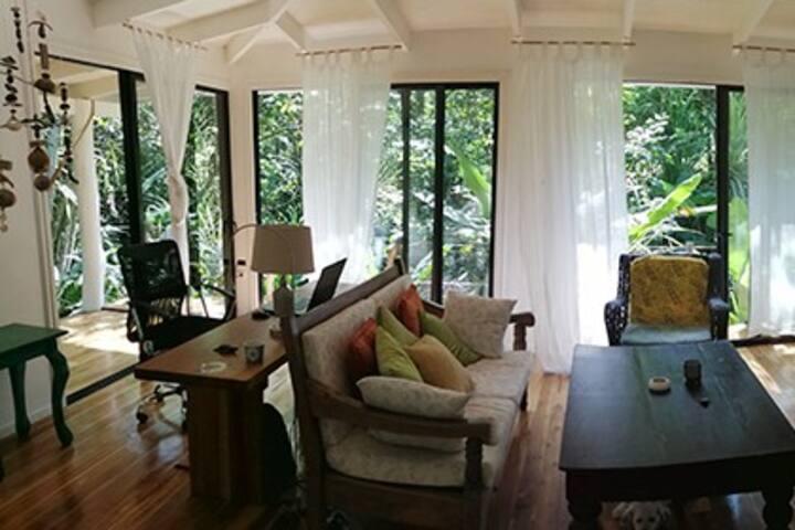 Perfect house closed  Montezuma  in natural garden