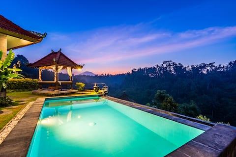 Sunrise Villa 3BR com vista incrível para a selva