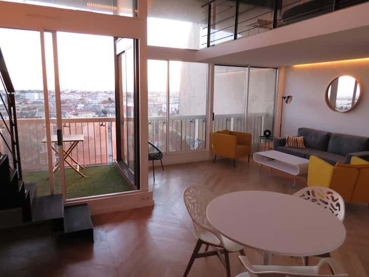 Loft in the city center with an amazing view