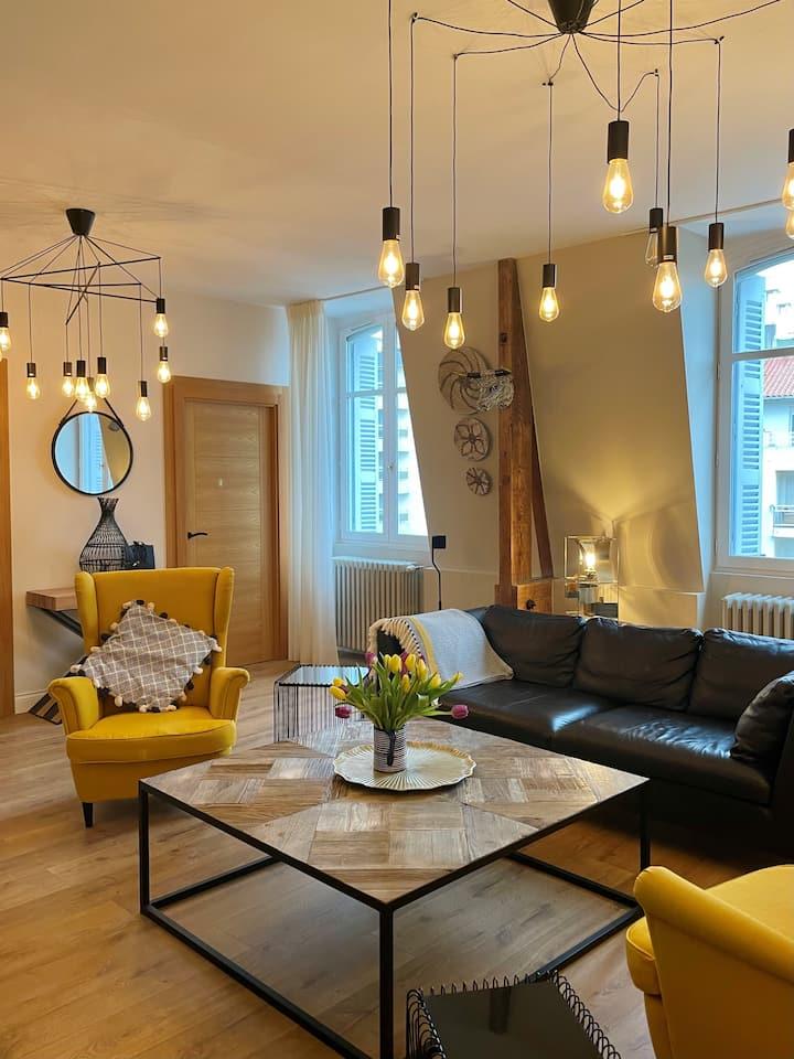 Bel appartement T3, Grange Plage, design, parking