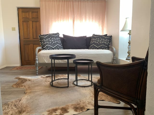 Bonus room just off of kitchen with comfortable twin daybed for a 3rd person