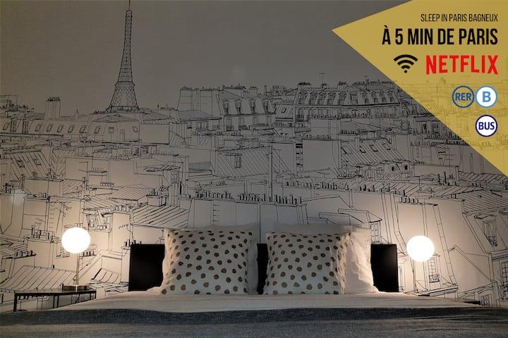 Magnifique appart à 5' de Paris ★ NETFLIX ★  Fibre