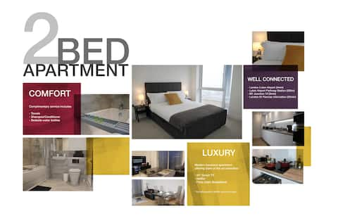 Two Bed Luxury Apartment by London Luton Airport