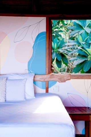 Stylishly finished bedroom