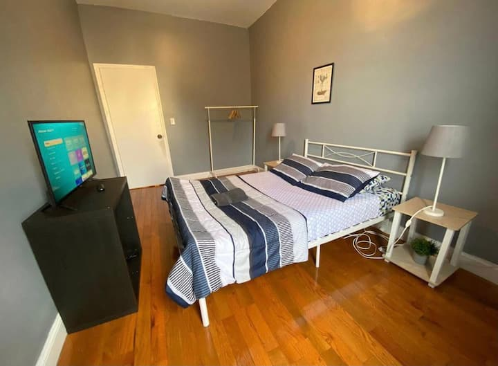 Spacious room is an amazing location
