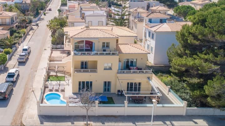 Villa with pool and seaview in Son Serra de Marina