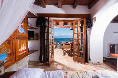 Tradycyjne domy- Dom z widokiem na morze - Leonidas