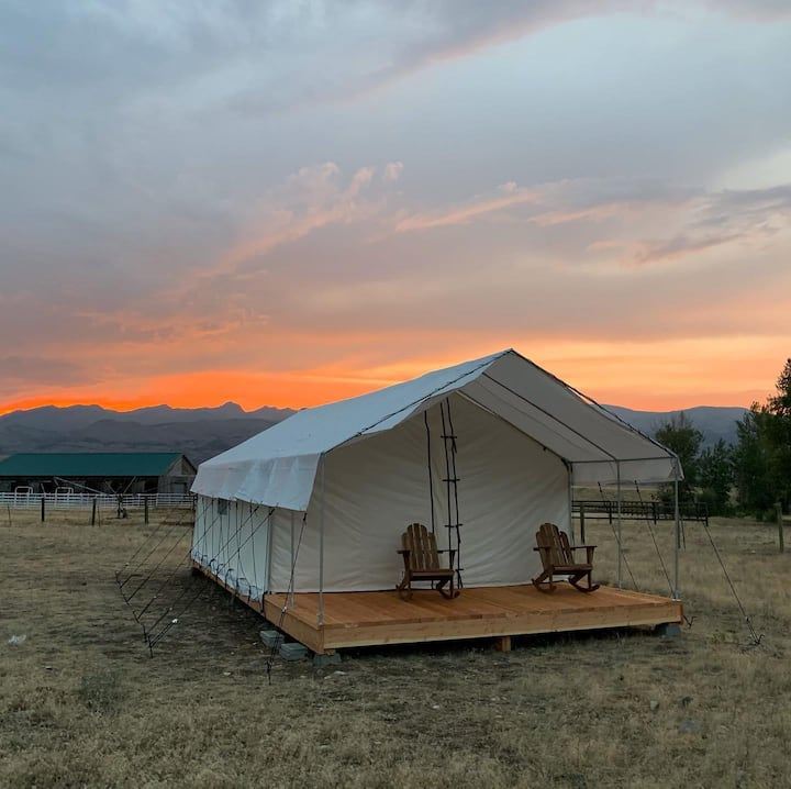Glamping Tent near Yellowstone Park