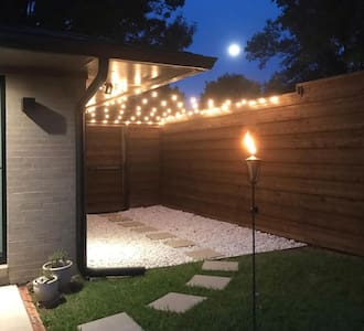 We have outdoor string lights that we turn on for our guests