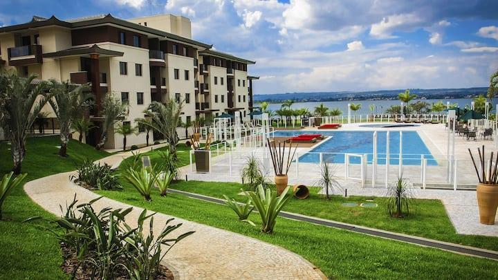 Life Resort - Flat vista pro Lago e piscinas
