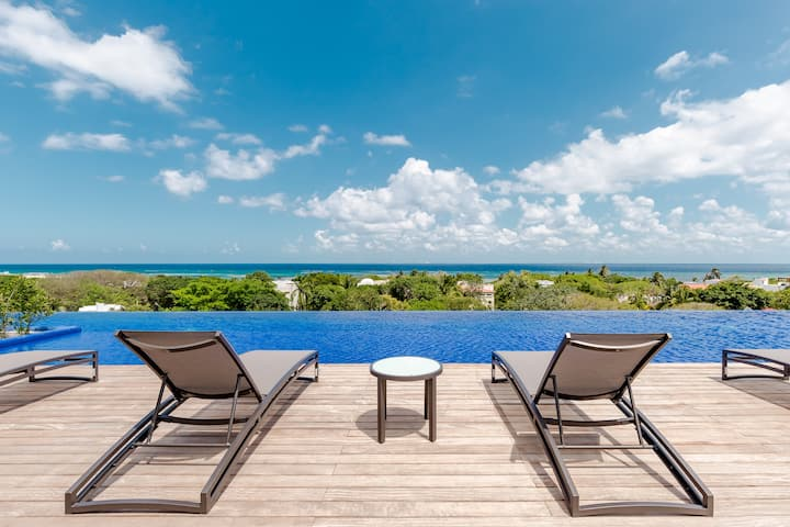 OCEAN VIEW POOL & GYM & Lux One Floor Condo