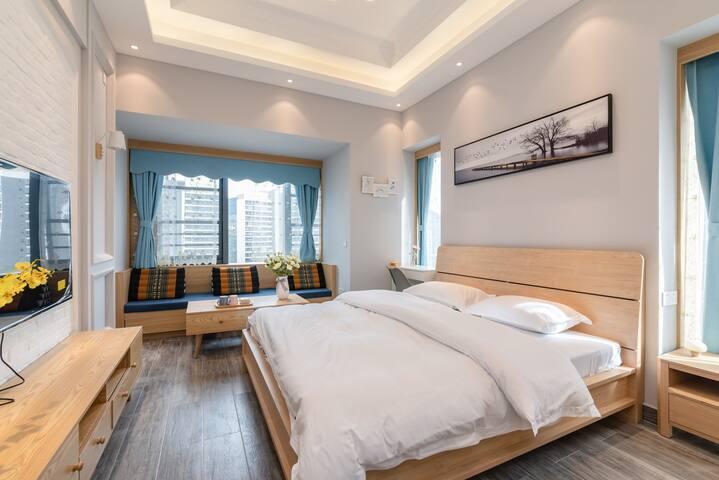【橙途】未来方舟/近雅斯特国际酒店/暖风机/精致单间公寓/可做饭带厨具