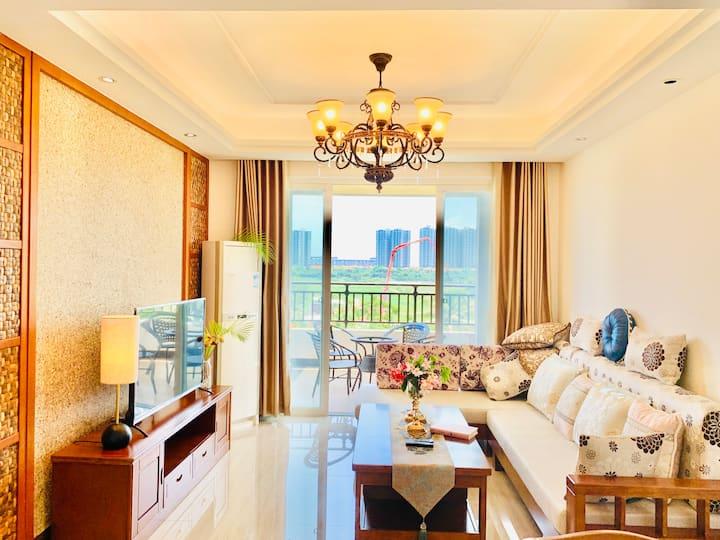 三亚清水湾临海两室豪华家庭套 只接一月起租订单 连住更多优惠《免费接机》