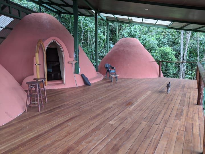 Eco Domes by Waterfall River on Permaculture Farm