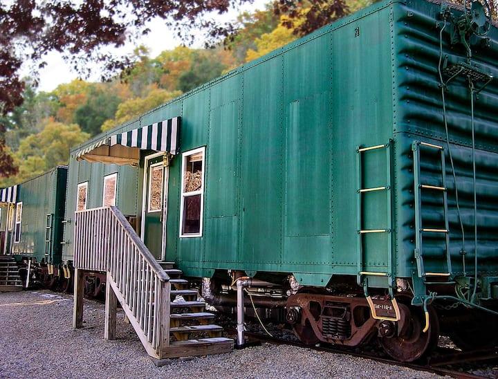 Historic Railcar in Pristine Doe River Gorge