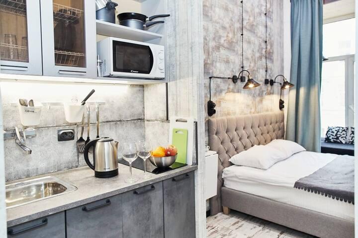Стильные апартаменты на Большом проспекте ПС