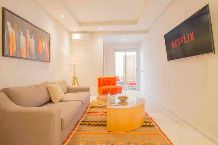 ☆CALM, SUPER CLEAN APARTMENT - RABAT AGDAL +Garage