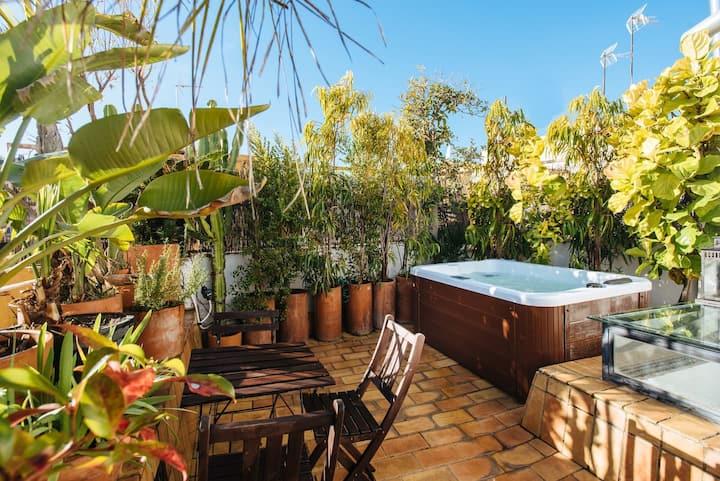 Alameda  jacuzzi  terrace modern house
