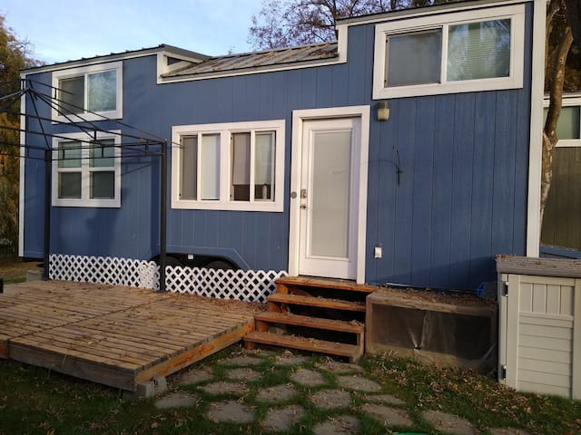 Try tiny house living in a tiny house community!