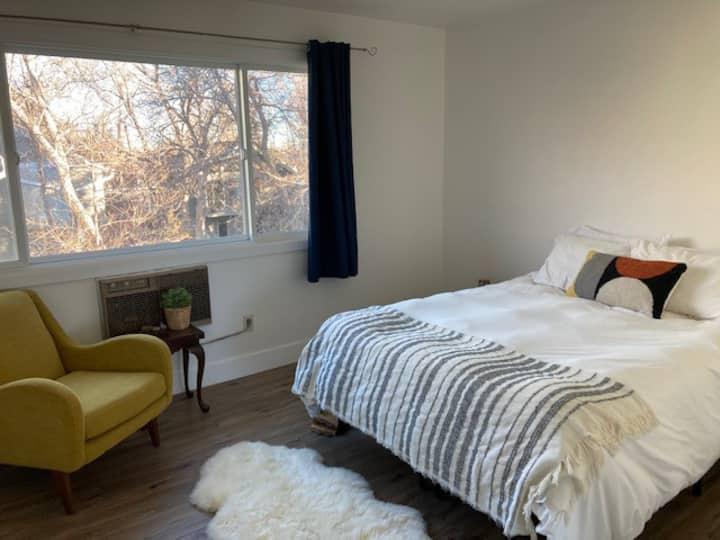 Sunny, quiet bedroom in modern NoBo townhouse