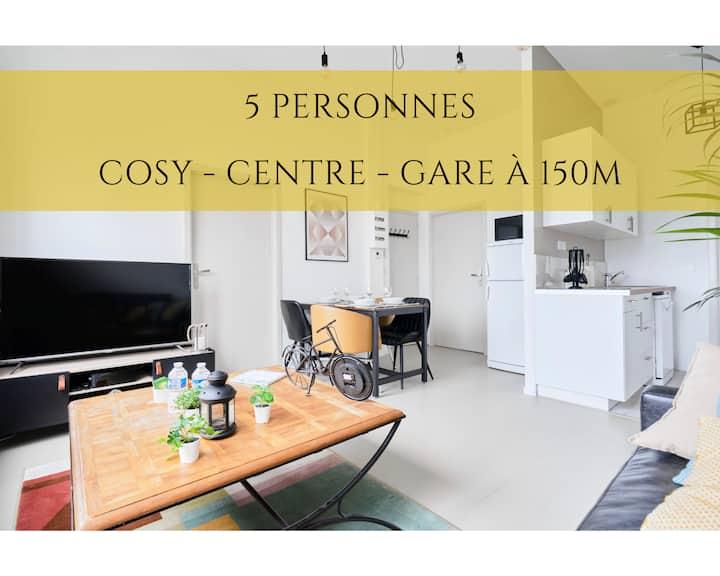 ★ Le Dron***Confort-Lumineux-Centre-Gare à 150m ★